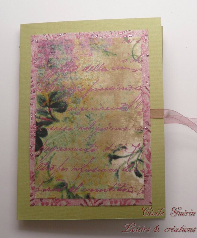 Carte surprise verte et rose - blog