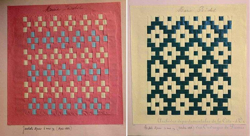 Tissages rose et vert - Archives départementales de la Côte-d'Or