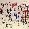 Monotype sur papier aquarelle 300gm encre peinture automatique