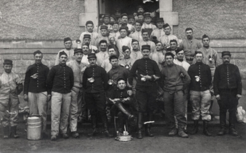 soldats du 49e d'Artillerie, vers 1913