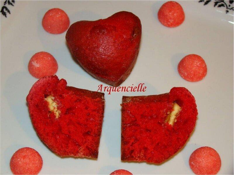 Muffins coeur à la fraise tagada coeur blanc
