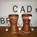 Couple bonhomme de pain d'épices