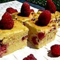 Gâteau fondant framboise-chocolat blanc