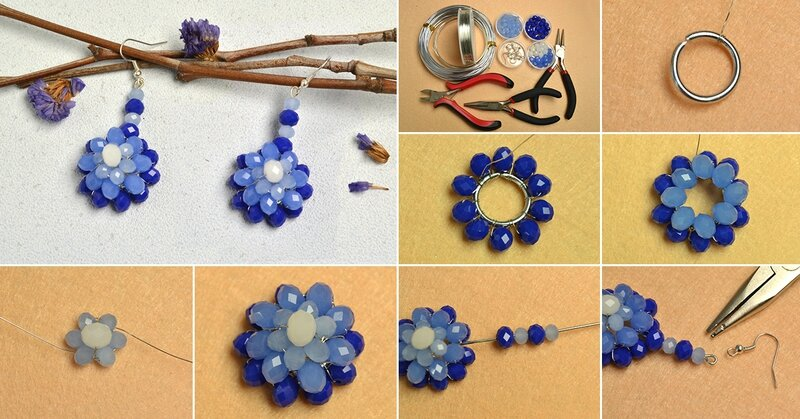 1200-How-to-Make-Beaded-Flower-Earrings-with-Blue-and-White-Imitation-Jade-Beads