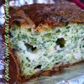 Cake épinards, roquefort, noix et jambon cru