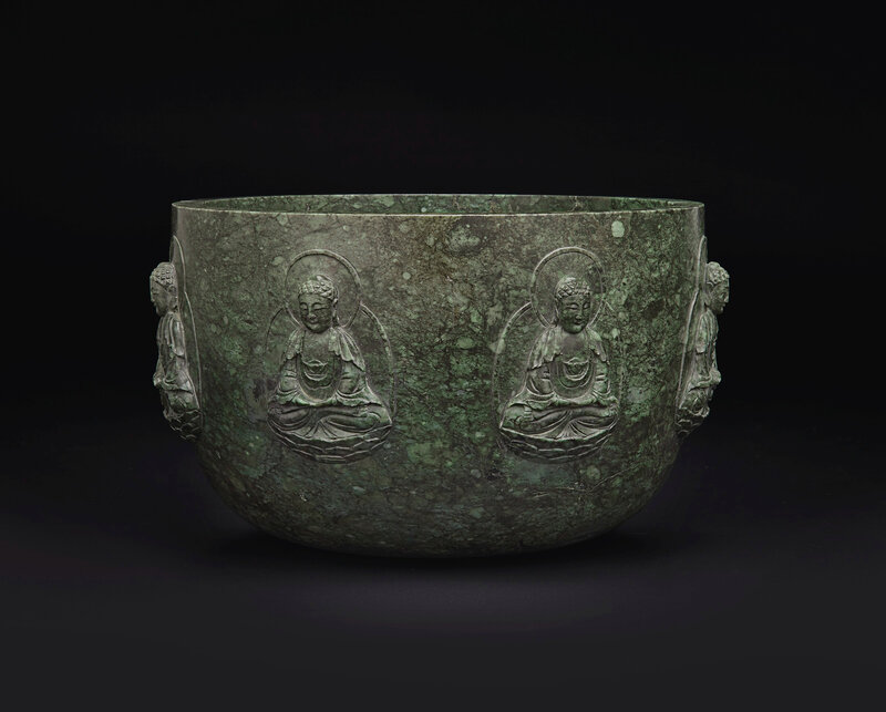 2019_NYR_16950_0844_001(a_rare_and_large_mottled_dark_green_jade_alms_bowl_qianlong_period)