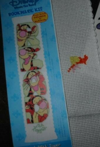 tigger bookmark designer stitches