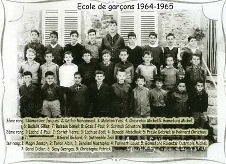 BOURG-GARCONS 1964-65