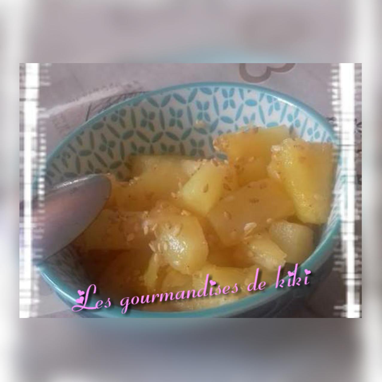 Ananas au miel a l'actifry