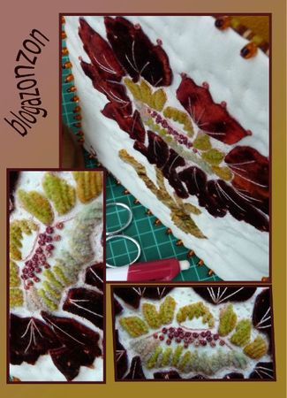 silk velvet embroidery