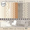 Freebie : une invitation de papier