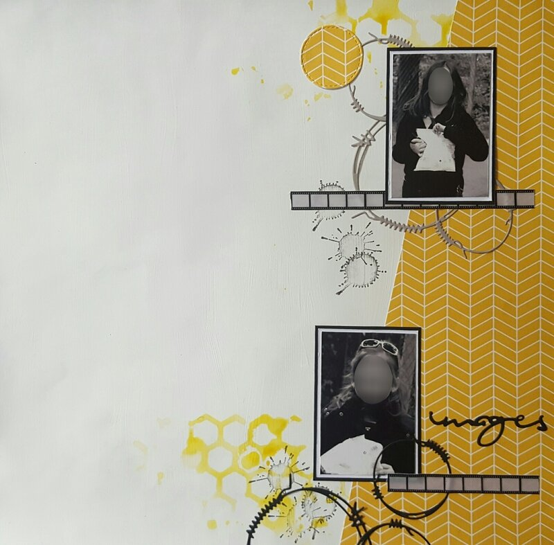 Sketch oscrap et combo fil and scrap flou