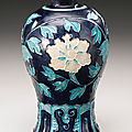 A fahua 'floral scroll' vase (meiping), ming dynasty, 16th century