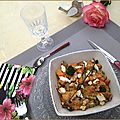 Gratin de patate douce, quinoa, chèvre