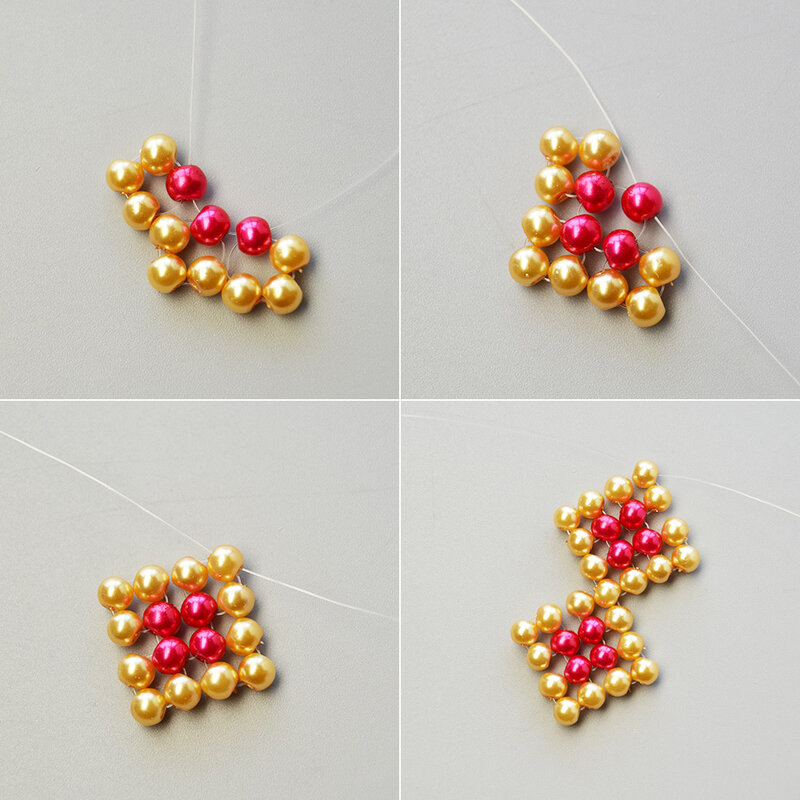 How-to-Design-a-Pair-of-Rhombus-Pearl-Beads-Pendant-Earrings-3