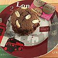 Brownies individuels au coeur fondant aux cacahuetes