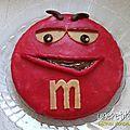 Gâteau monsieur m&m's (et madame m&m's)