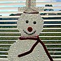 Bonhomme de neige au pistolet à colle