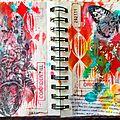 Une nouvelle double page pour mon art journal