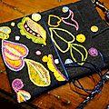 Pochette-sac motifs d'inspiration libre glazig