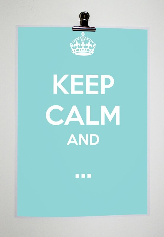 affiche déco keep calm