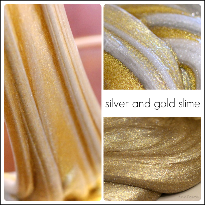 Gold-and-silver-homemade-slime-recipes-for-kids