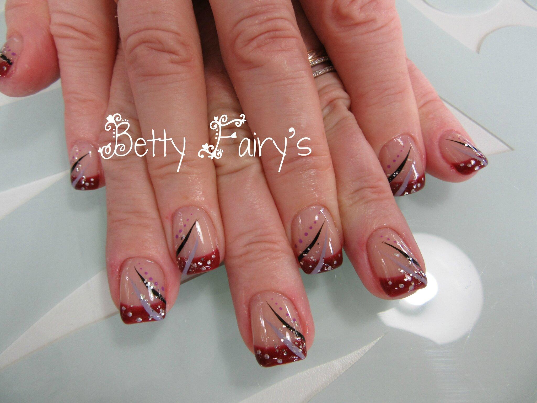 Deco Ongle Rouge Noir Et Paillette Nails