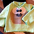 Angèle - tricot pull hibou