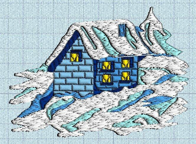 village sous la neige 02 machine