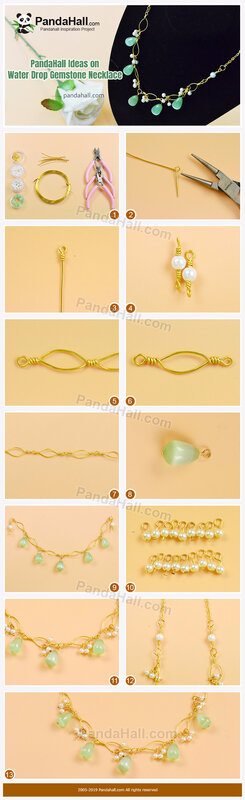 5-PandaHall Ideas on Water Drop Gemstone Necklace