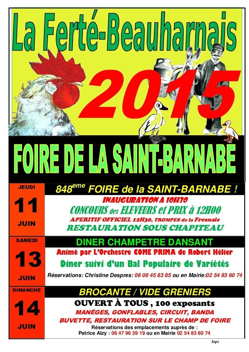 Brocante La Ferte St Aubin 2019, demandez le programme! - foire de la saint barnabé