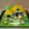 Blanche Neige et les 7 nains gâteau