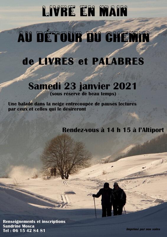 Affiche balade neige 2021