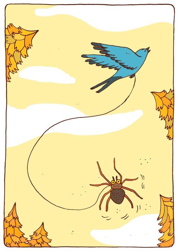 l'araigné et l'hirondelle