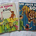 livres vintage au zoo.