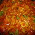 Orecchiette sauce tomates maison et spaghettis de courgettes