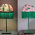 Lampe rétro en papier japonais