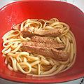 Gourmandises du dimanche - udon au canard