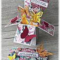 Carte à explosion papillons