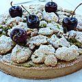 Tarte pistache-cerise d'après pierre hermé