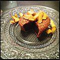 Fondant chocolat praliné et pommes-amandes poêlées [sev]