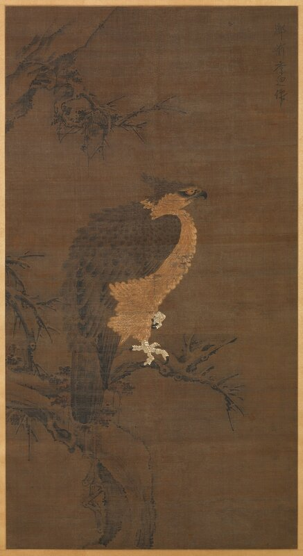 Anonymous Chinese Painting, 13th-14th century (Old attribution to Li Ti), Eagle on Winter Branch