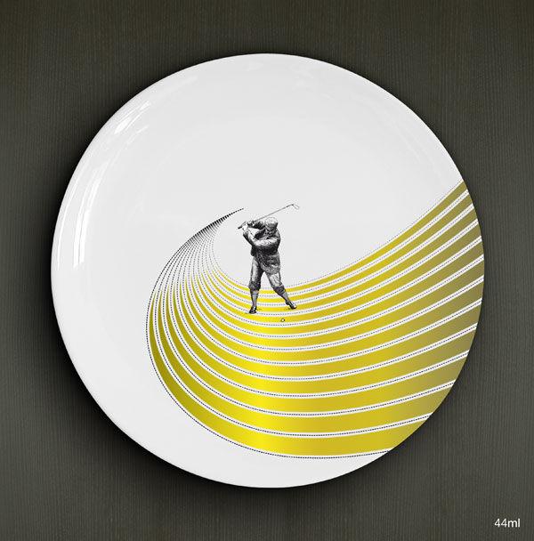 Sports divers, golf, porcelaine D. 26cm / 22,00€ l'unité