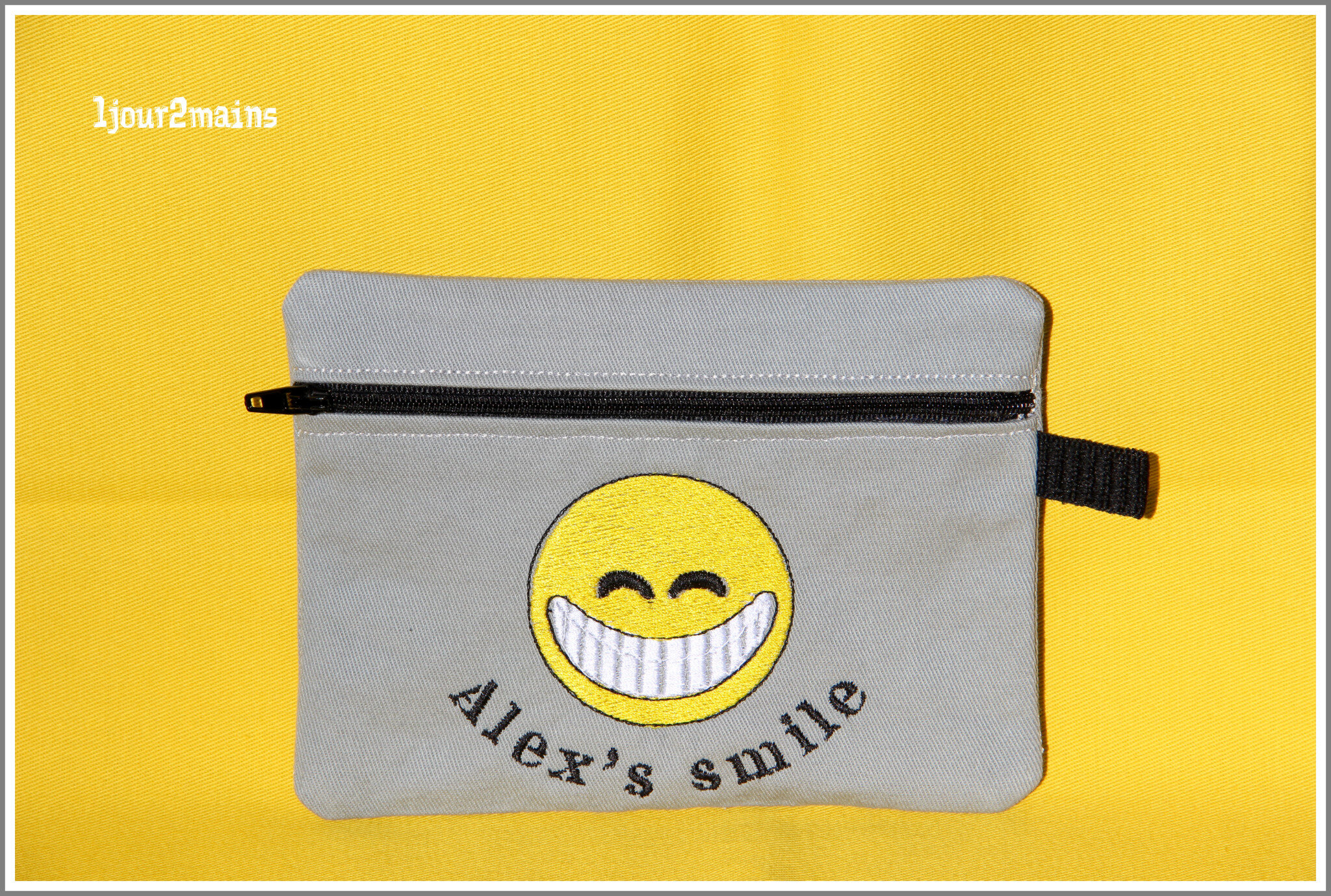 trousse zip smile alex