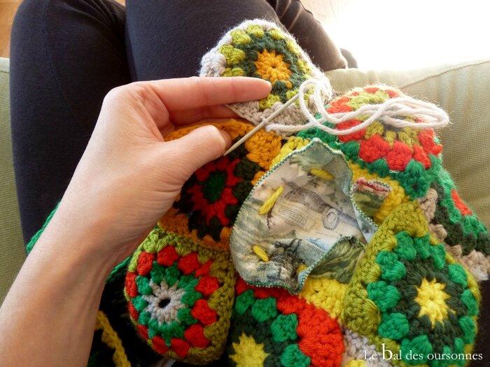 91 Blog CAL Crochet Granny Square Rétro Assemblage