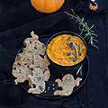 Crackers aux graines & dip de courge rôtie à l'ail #halloween #vegan