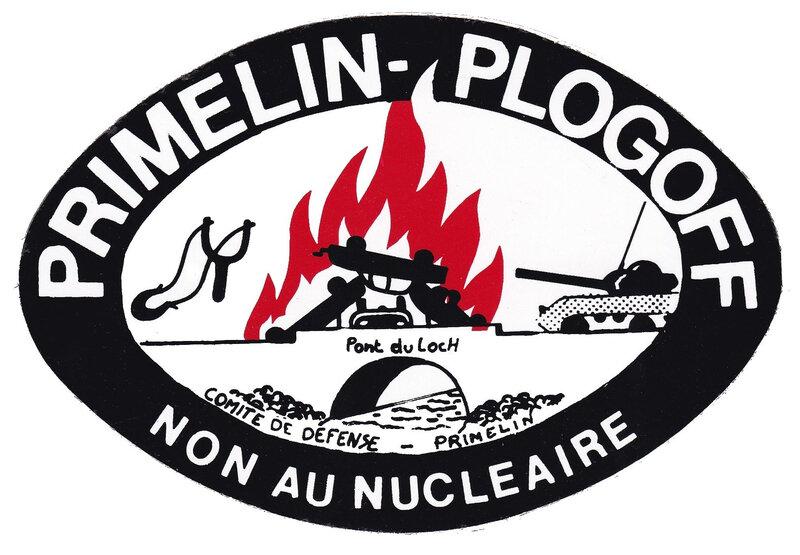 Ch38 - Non au nucléaire - Autocolant du pont du Loch