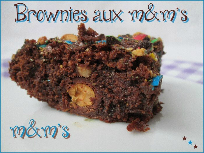 brownies aux m&m's 1