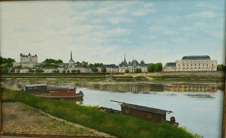 Panorama du quai de Saumur