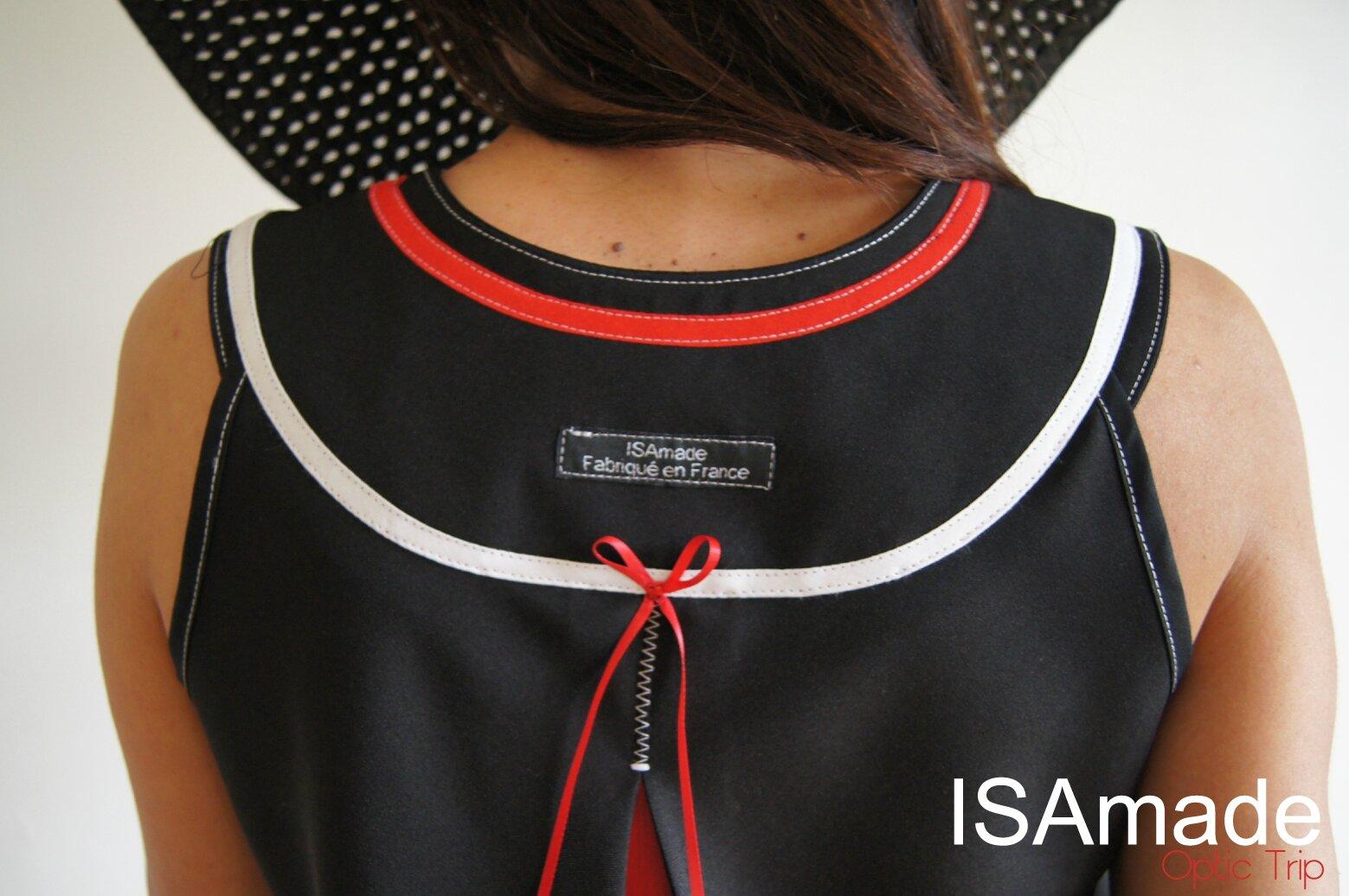 Robe Graphique trapèze Noir/blanche Pied de Poule tendance Printemps/ été 2014